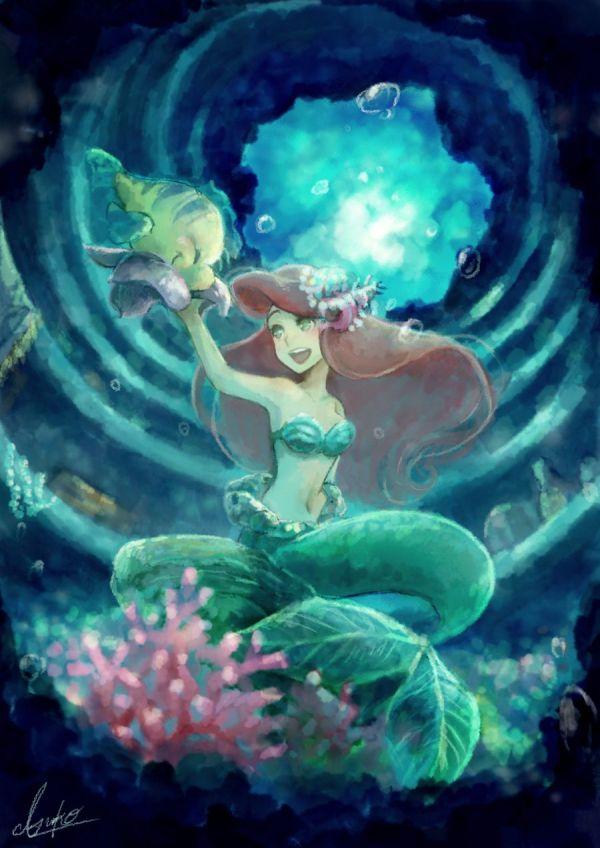 Disney Little Mermaid Ariel Anime