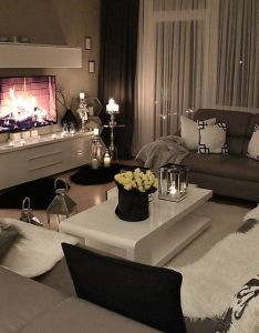 The curtain panels furniture set up and faux fire also dekorasyon pinterest living rooms room apartments rh