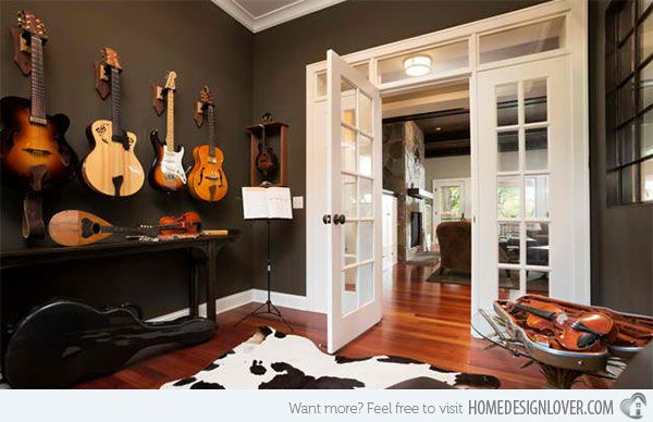 15 Design Ideas For Home Music Rooms And Studios Music Rooms