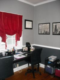 My new home office idea. Black, White and Gray - Maybe ...