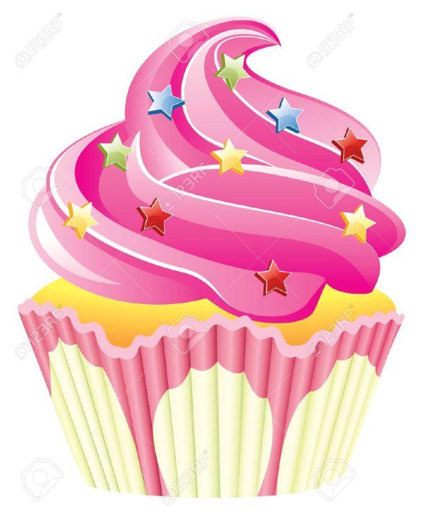 cute cupcake clip art pink
