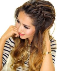 Front French Braid For Oval Face   Hairstyles for Women ...