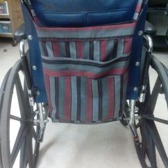 Chair Bags For School Pattern Under The Weather Grey Striped Wheelchair Tote Bag With Multiple Pockets