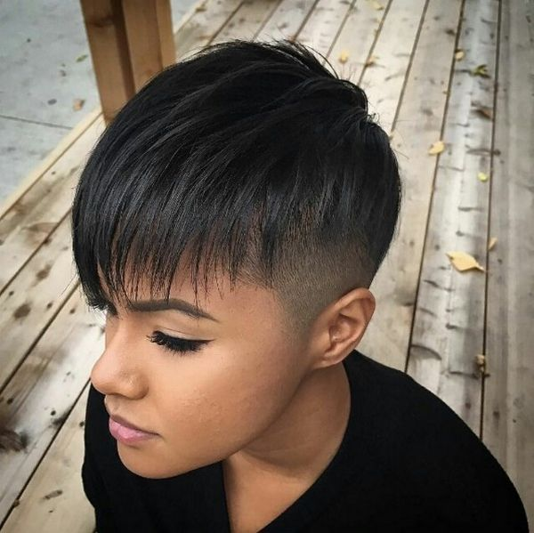 Short Haircuts With Shaved Sides And Back Hair Color Shades Of