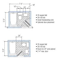 Small Bathroom Floor Plans 5 X 7 - Carpet Vidalondon