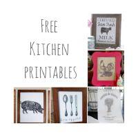 Free kitchen printables. Farmhouse kitchen decor. | The ...