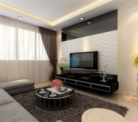 3D PVC Wall Cladding For Living Room | Wall Design Ideas ...