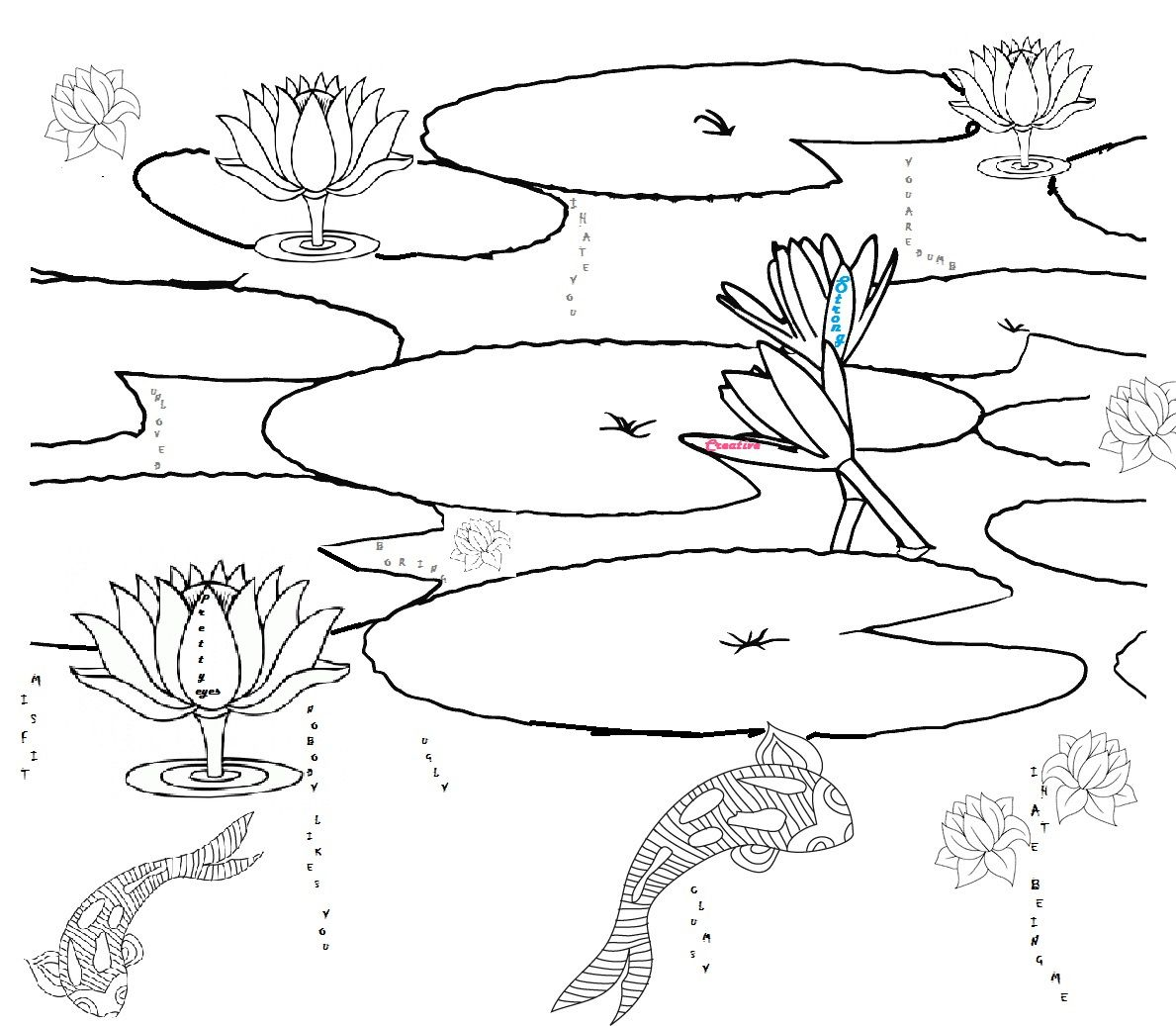 Printable Pond Habitat Coloring Page