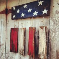 Rustic flag Door hanger, Patriotic Door hanger, Welcome ...
