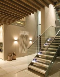 Interior of la lucia residential house in durban south africa by saota stefan antoni olmesdahl truen architects and associates also hallway wall decorating idea inside rh za pinterest