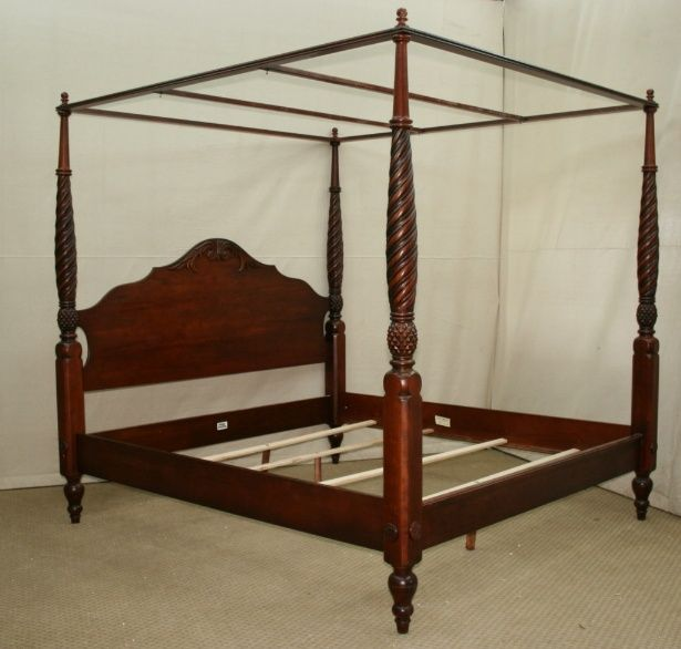 Ethan Allen British Clics Montego King Size Canopy Poster Bed