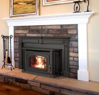 I like this pellet stove with a mantel. | Home Decor ...