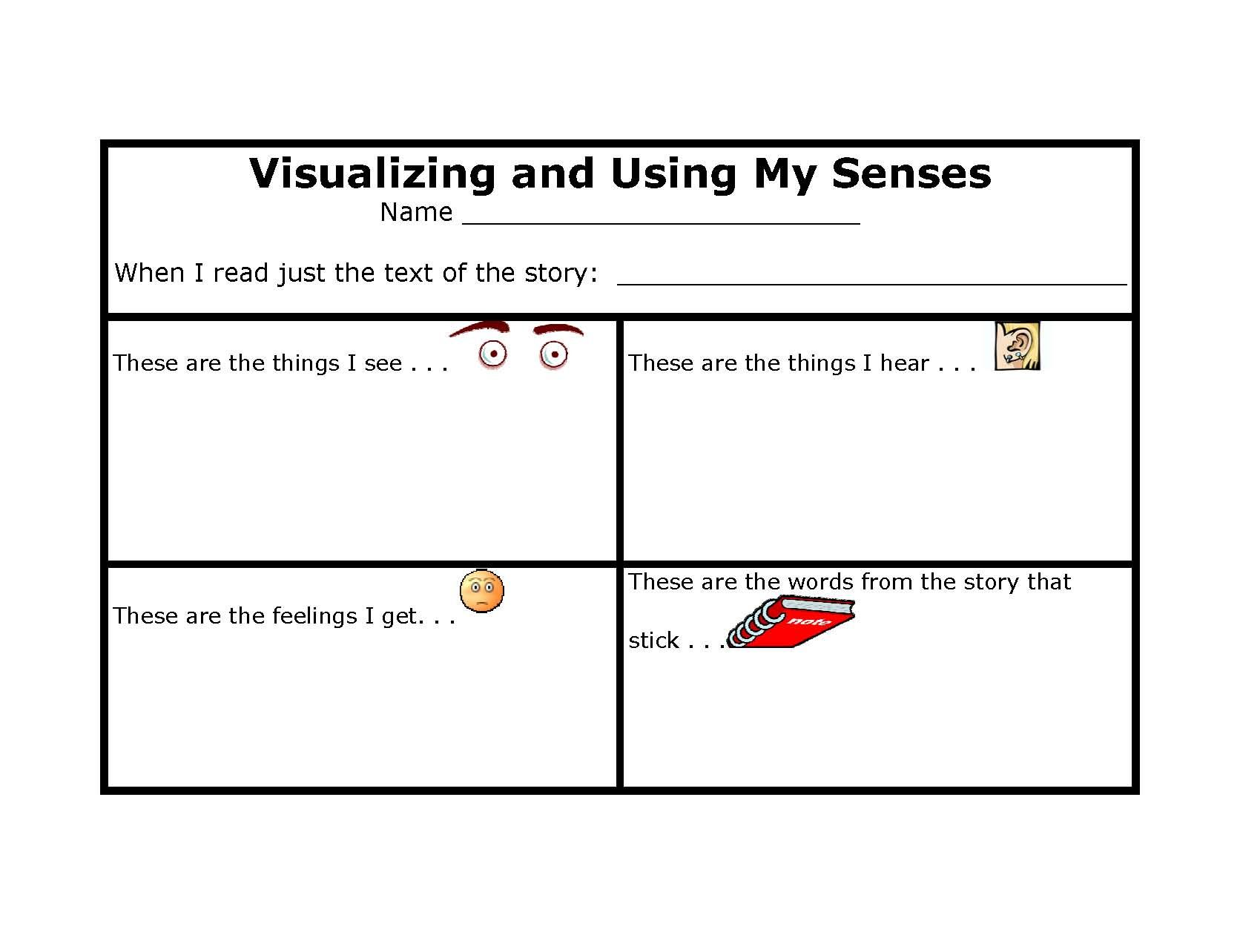 Visualizing Worksheet Printable