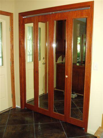 Custom Mirror Bifold Closet Doors Home Decor