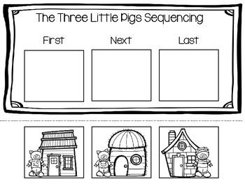 Three Little Pigs sequencing activity- great to review the