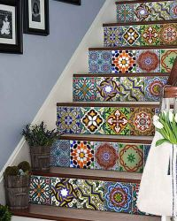 AB2 Set of 24 vintage traditional mexican Tiles Decals ...
