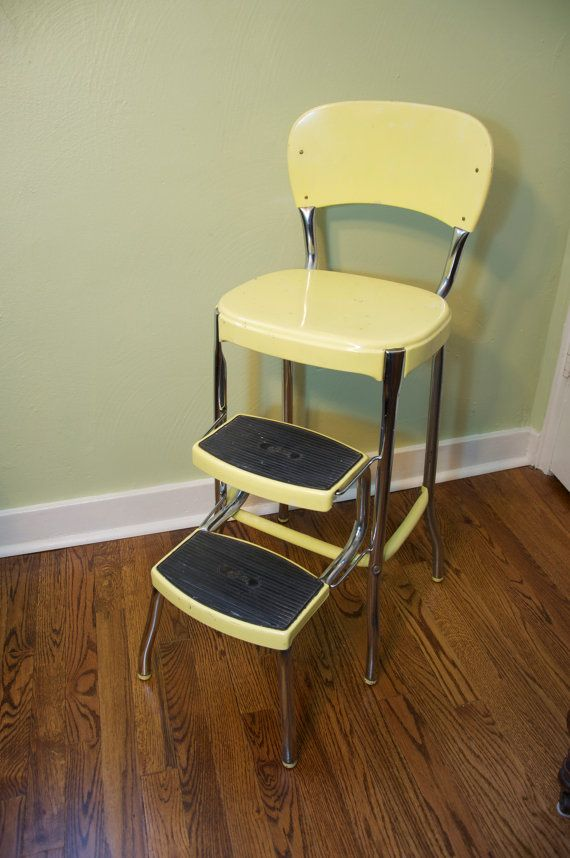 retro chair step stool x rocker pedestal gaming ps4 xbox one 1950s atomic kitchen vintage costco stylaire yellow chrome | stuff to buy ...
