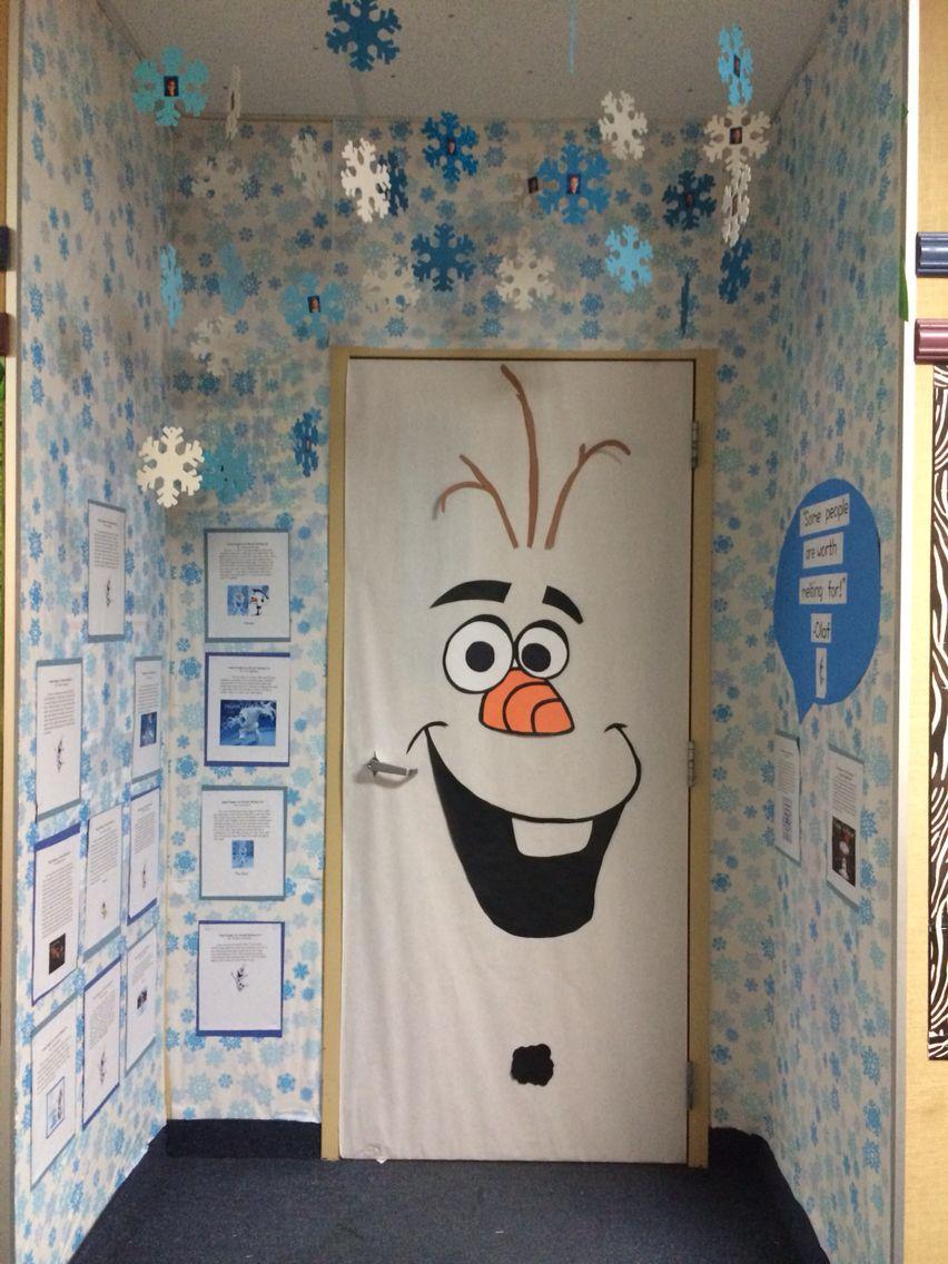 Olaf classroom door, Frozen, door decorating contest