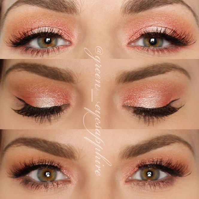 Nyx Golden Peach Shadow With Thin Liner Fluttery Lashes