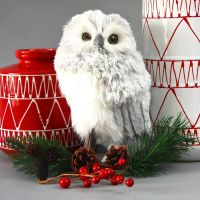 christmas owl decoration   Billingsblessingbags.org