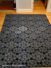 Kims Makeover: Adding a Stencil to a Rug | Cheap rugs ...