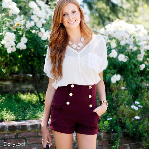 Red Velvet Sailor Shorts
