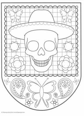 Dibujos para colorear el día de los muertos (43