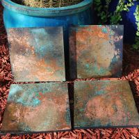 Custom Made Copper Patina Wall Art (Various) | Houses ...