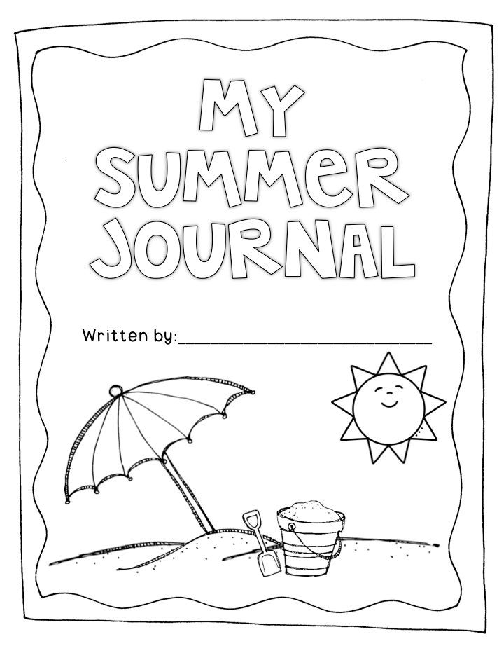 Summer journal to keep your kiddos writing over the summer