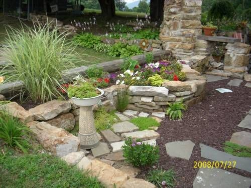 Garden Design With Wonderful Backyard With Large Rock Garden