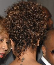 janet jackson casual curly updo