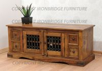 Long Low TV Stand Cabinet with 4 drawers and a Double Door ...