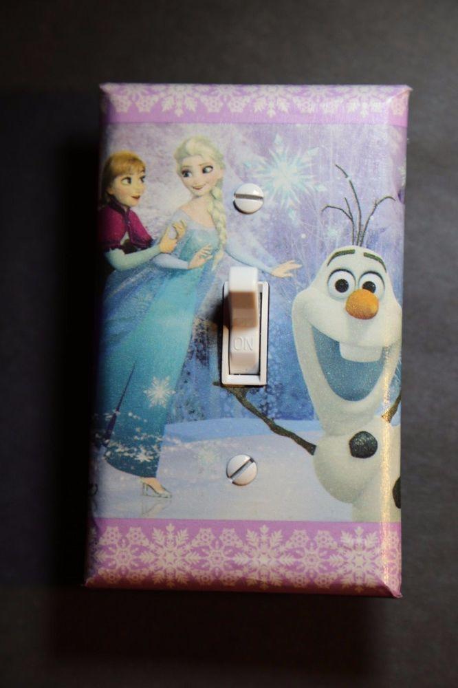 Frozen elsa ana light switch cover girls child kids room home decor bedroom olaf also rh pinterest