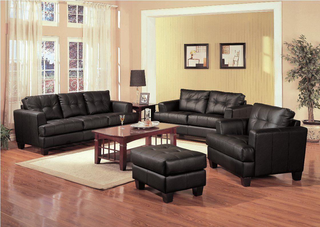 black leather sofa in living room star samuel 501681 coaster furniture