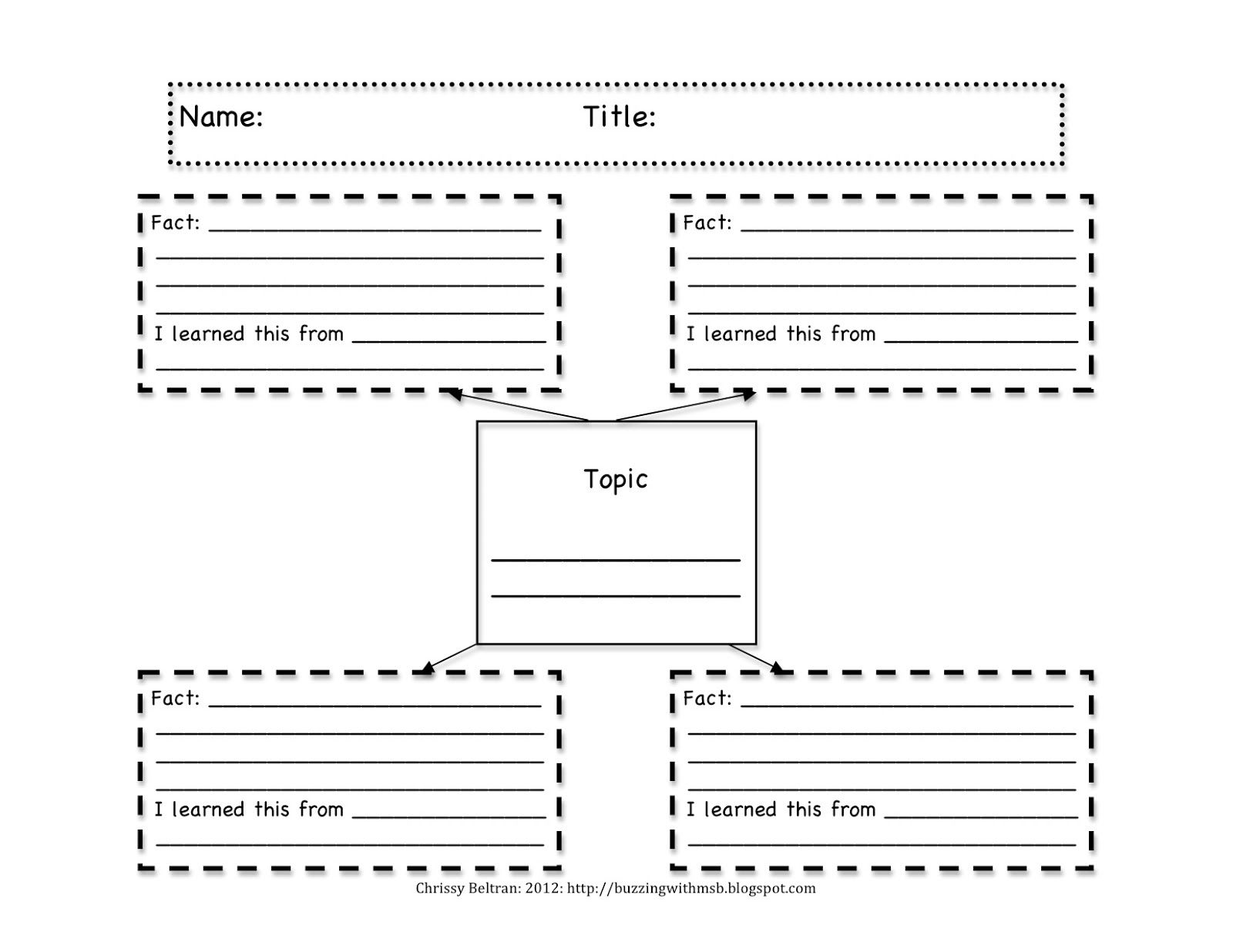 Research Graphic Organizer Units