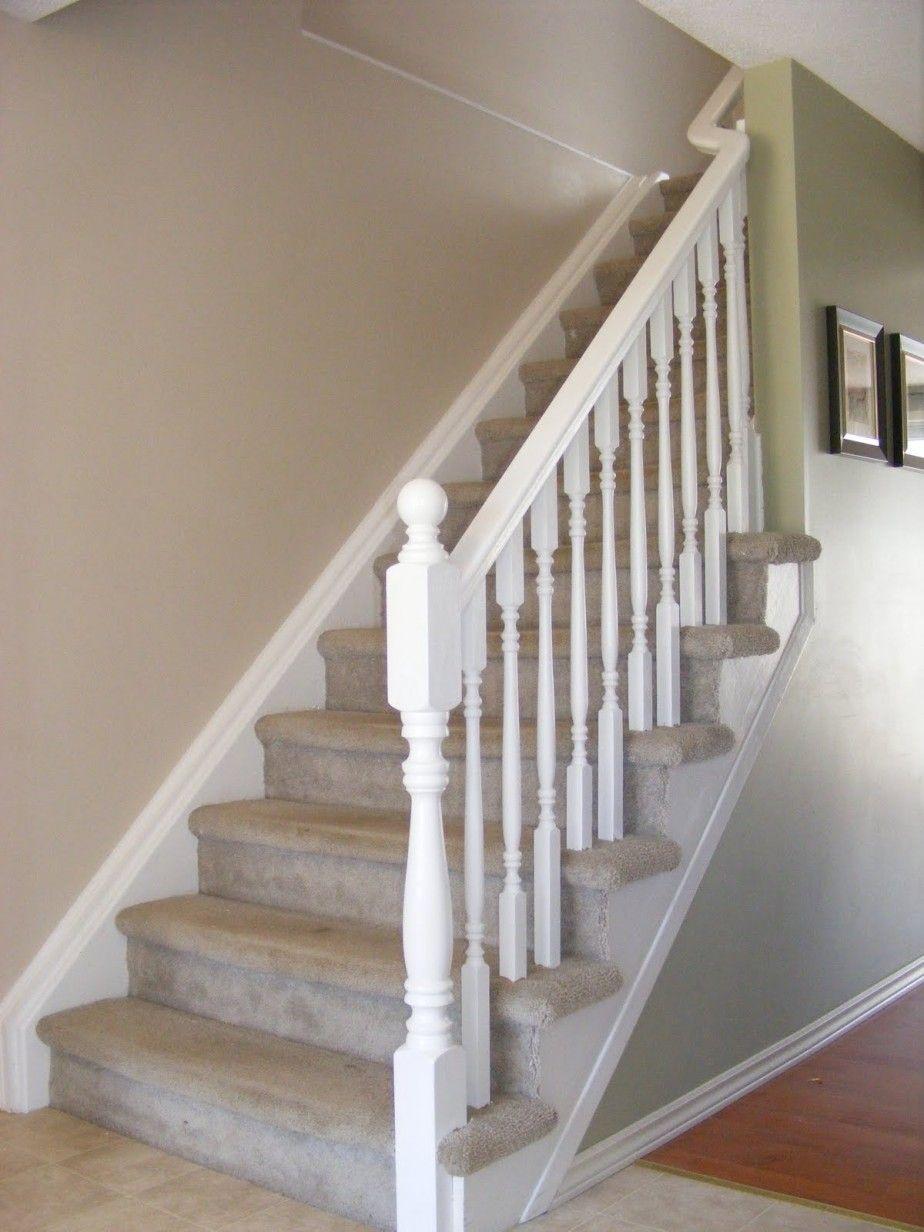 Simple White Stair Railing