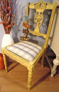 Antique Chair Painted in Annie Sloan English Yellow & Lots ...
