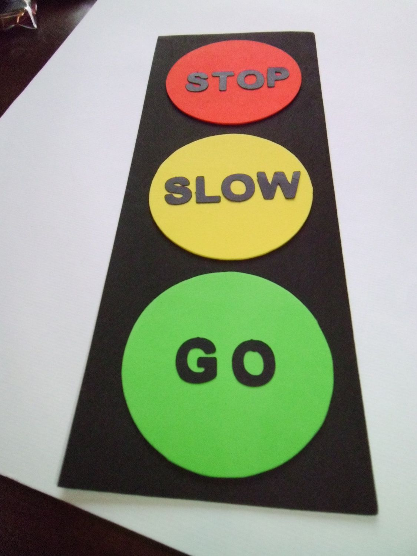 Foam Traffic Light Craft Kit For Kids By Mimiscraftshack On Etsy 1 25 Via Etsy