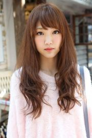 cute asian long hairstyle