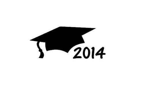 Graduation Cap Car Decal 2014 Graduation Gift by