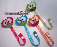 Sweet Owl pacifier holder by MySweetfelt on Etsy, 8.00 ...