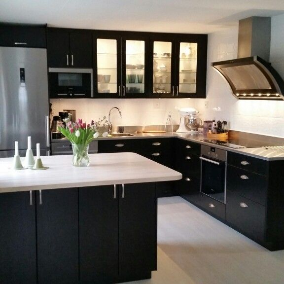 Black kitchen inspiration Kksflkt Rustik frn