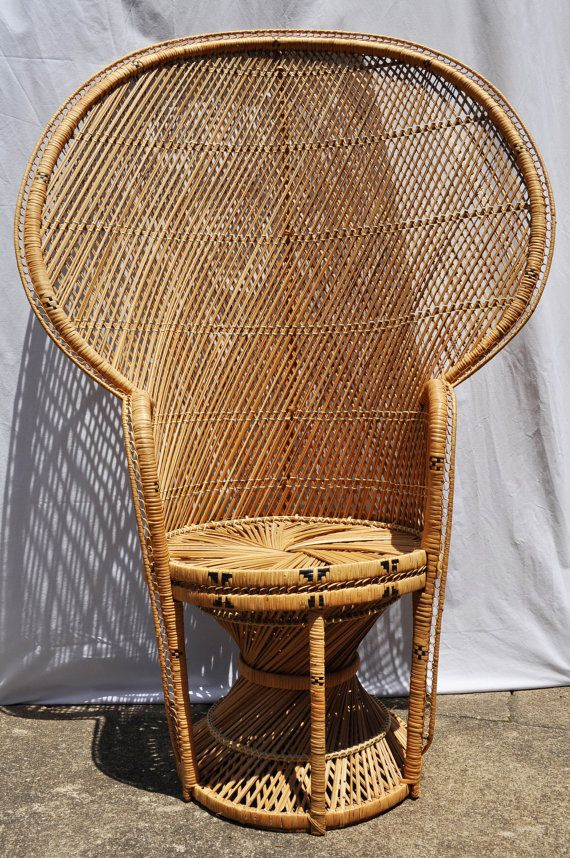 fan back wicker chair hooker desk peacock | home decor