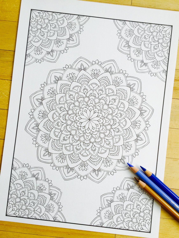 Mandala Virtue Corner Hand Drawn Adult Coloring