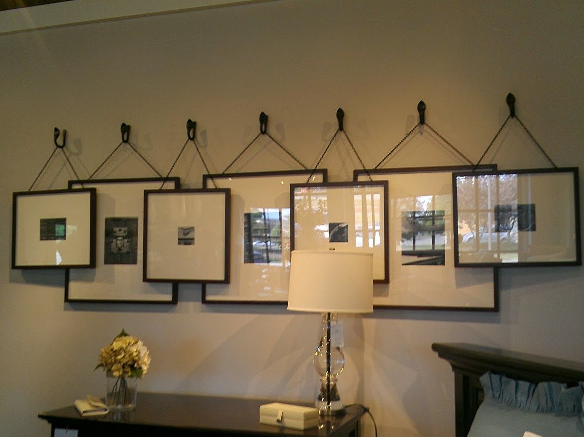 I thought this is such a neat idea for your gallery wall
