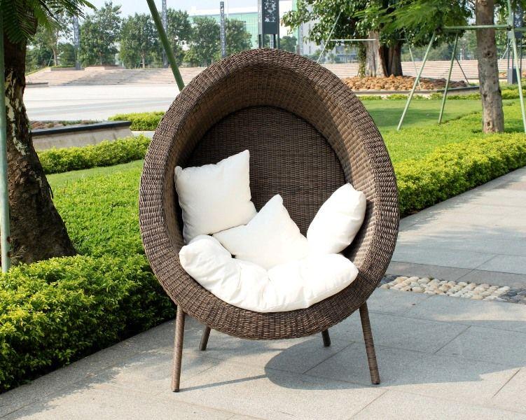egg chair garden furniture  Roselawnlutheran