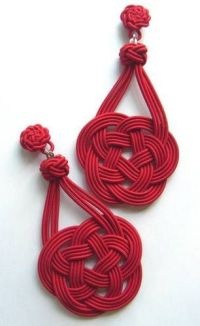 Red Chinese Knot (Love Knot) Earring