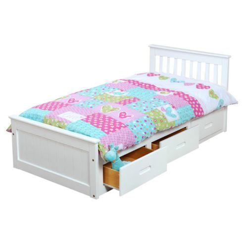 Amani Pine Mission Single Slat Bed With Storage 3 Drawers From Our Beds Range At Tesco Direct