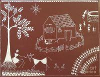 Warli Paintings - Warli Warli Painting On Bedroom Wall ...