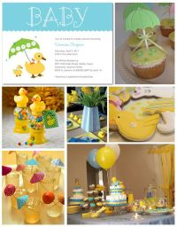April Showers Baby Shower Inspiration Board | Baby shower ...